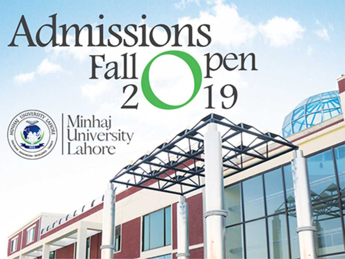 Admissions Open Fall 2019