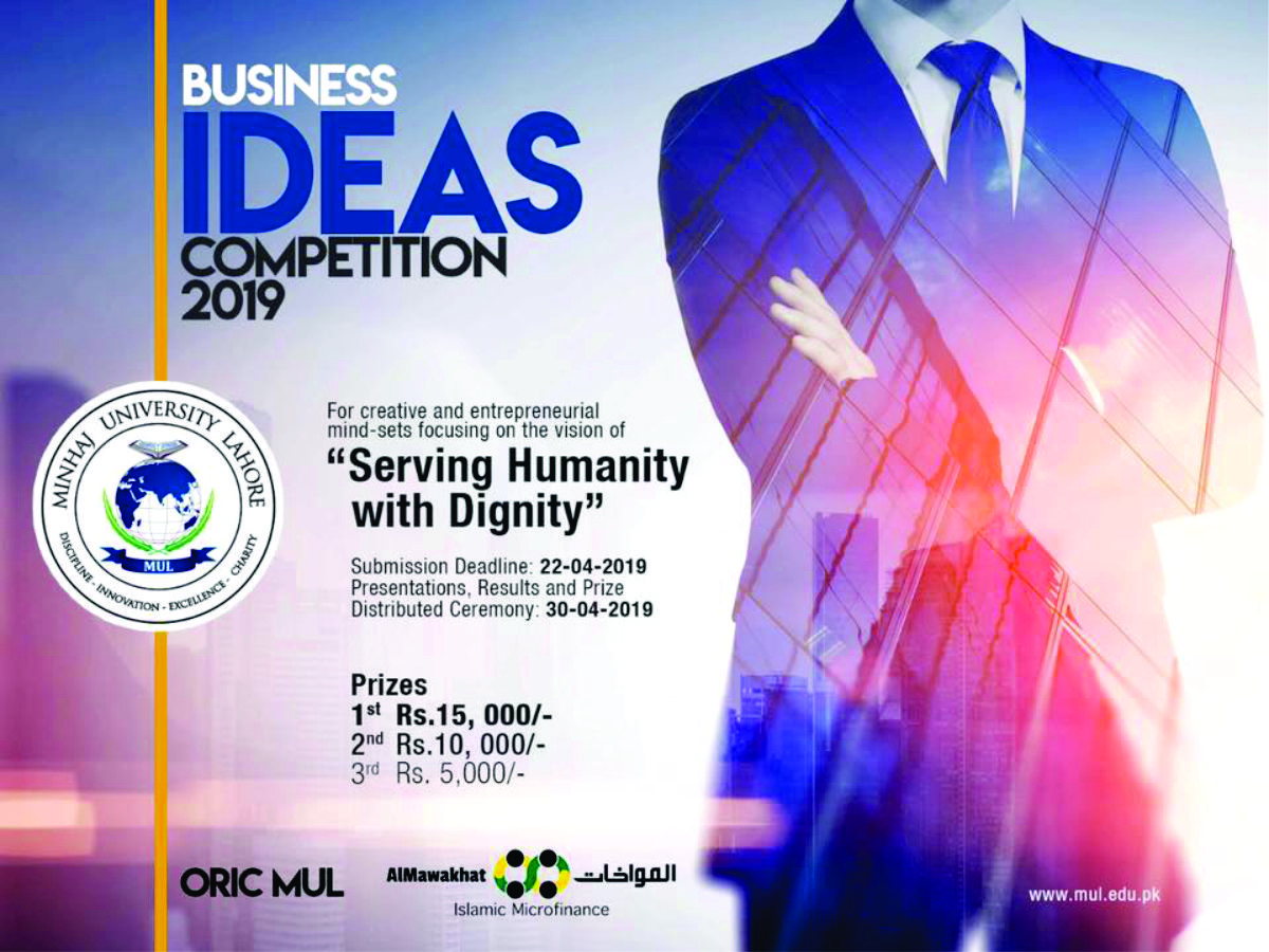 "Business Ideas Competition 2019, ""Serving Humanity With Dignity"""