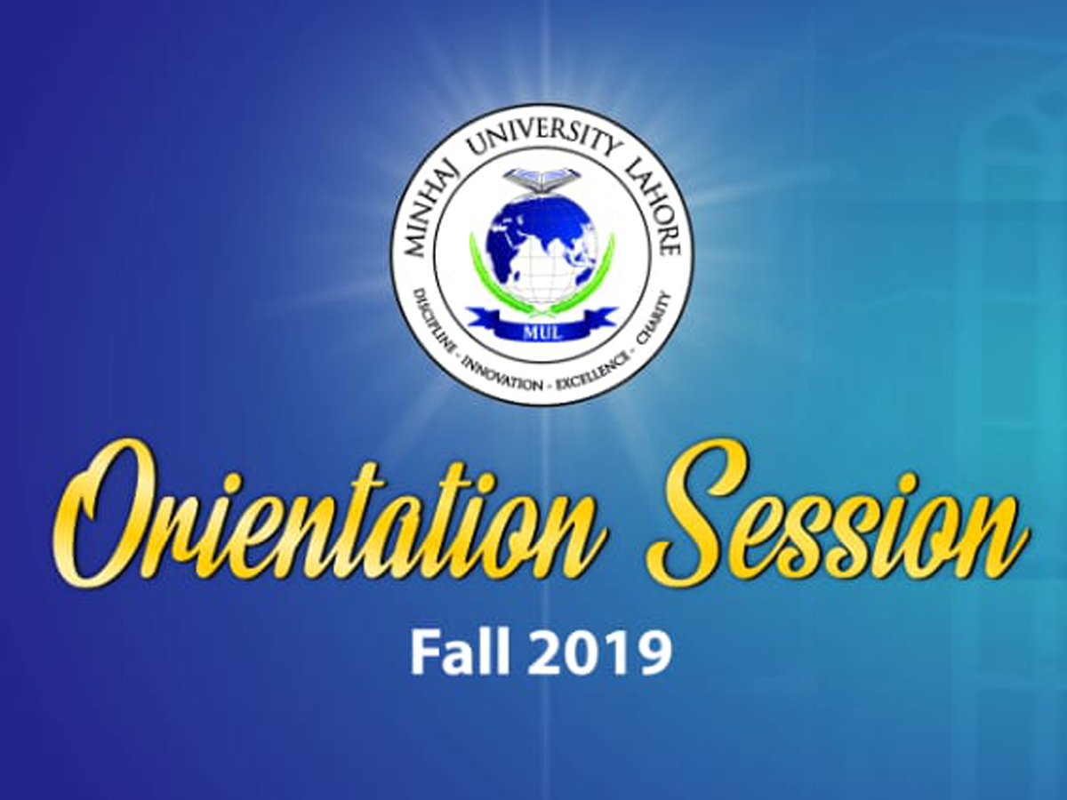 Orientation Session 2019
