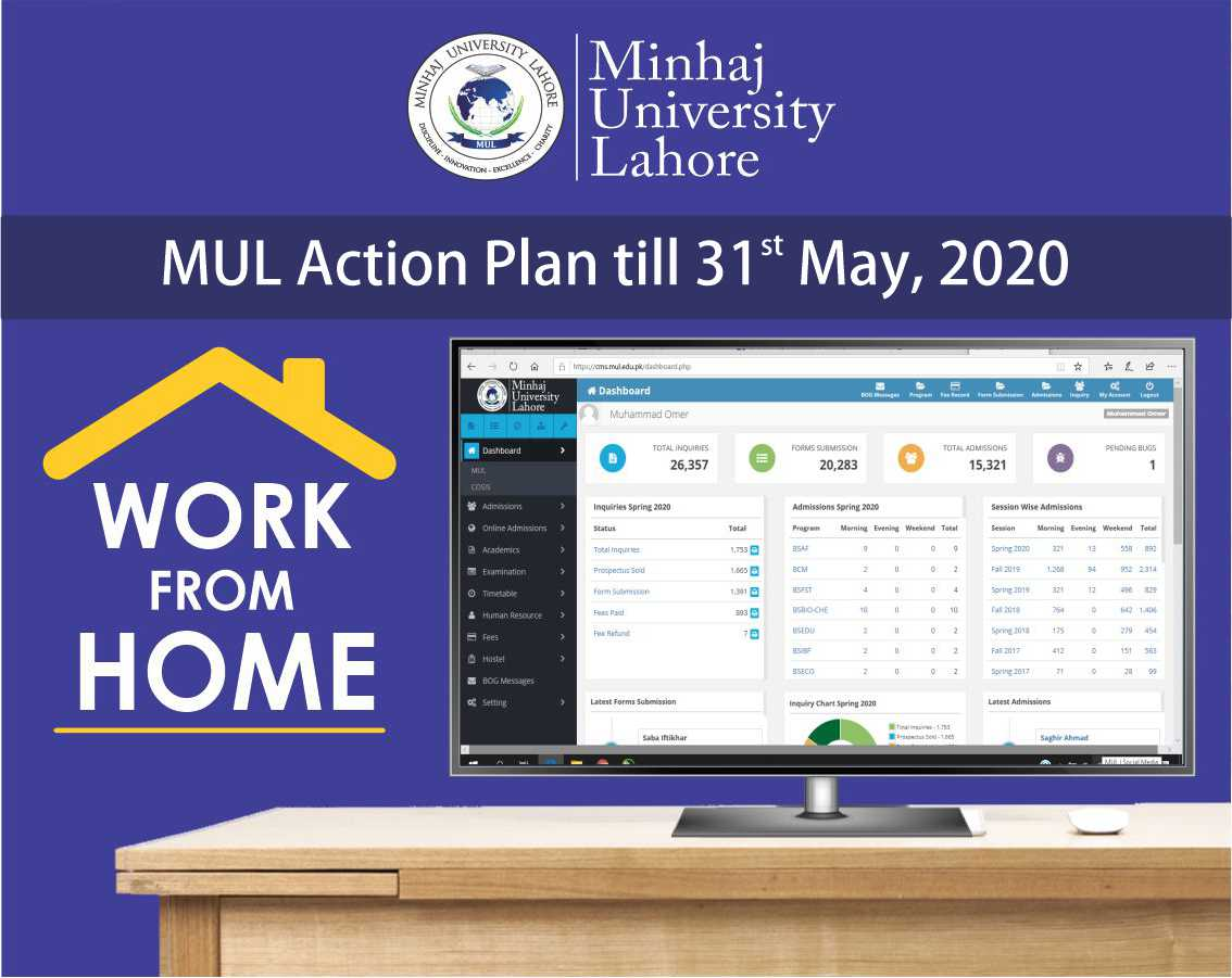 Action Plan till 31st May, 2020