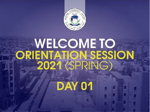 Orientation Sessions {Spring 2021) | Day 01